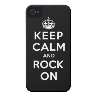 Keep Calm and Rock On iPhone 4 Case