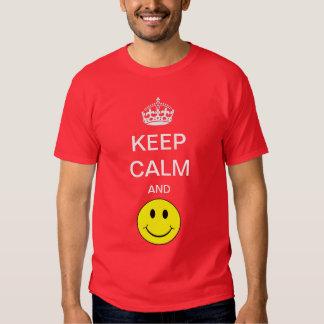 Keep Calm and smile Yellow Smiley Shirt
