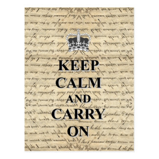 Keep Calm & Carry On Postcard