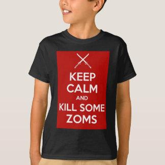 Keep Calm (Crossed Swords Red) Tee Shirt