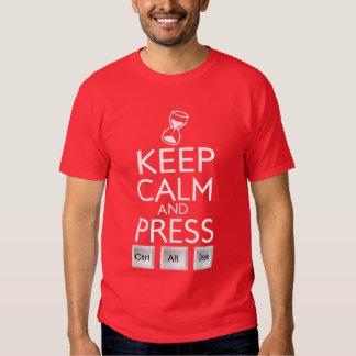 Keep Calm Press Control funny Tech Tshirt