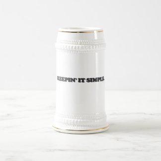 Keepin' It Simple 18 Oz Beer Stein
