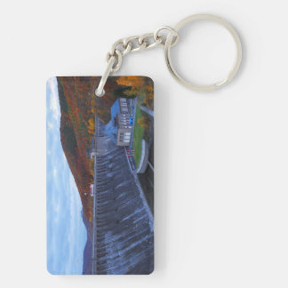 Key supporter Edersee concrete dam in the autumn Double-Sided Rectangular Acrylic Keychain