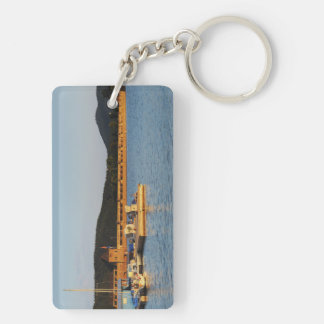 Key supporter Edersee concrete dam in the evening Double-Sided Rectangular Acrylic Keychain