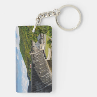 Key supporter Edersee concrete dam in the summer Double-Sided Rectangular Acrylic Keychain