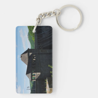 Key supporter Edersee concrete dam tower Double-Sided Rectangular Acrylic Keychain