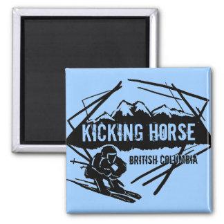Kicking Horse British Columbia blue ski magnet