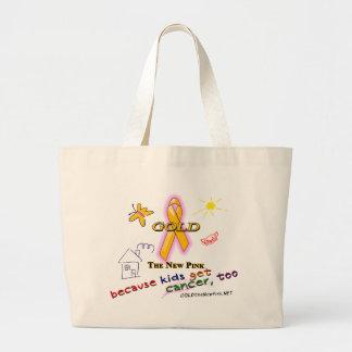 Kids Get Cancer, Too! Jumbo Tote Bag