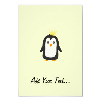 "King Penguin 3.5"" X 5"" Invitation Card"