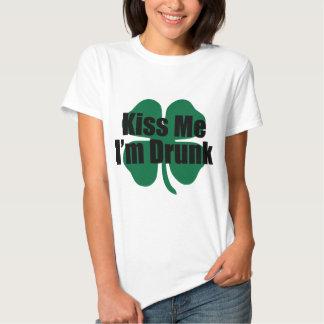Kiss Me I'm Drunk Tee Shirt