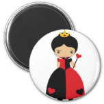 KRW Cute Queen of Hearts 2 Inch Round Magnet