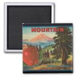KRW Vintage Mountain Apple Crate Label Magnet