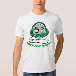 La chemise des hommes adaptés par argent de Dat T Shirt
