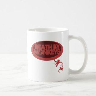 La mort par des singes mug blanc