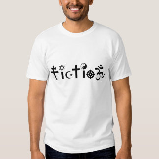 La religion est fiction tee shirt
