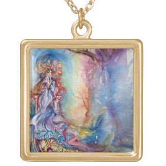 LADY OF LAKE , Magic and Mystery Square Pendant Necklace
