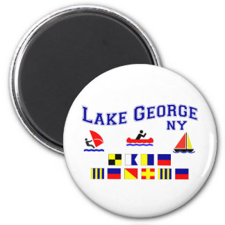 Lake George NY Signal Flags 2 Inch Round Magnet