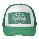 Lake Superior, custom town, name, anchor, paddles Trucker Hat