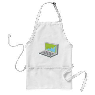 Laptop Financial Report Icon Standard Apron