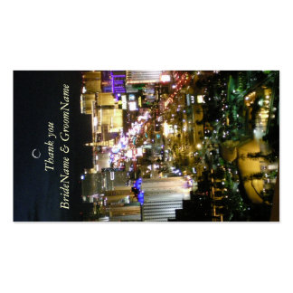 Las Vegas Nevada Thank you Gift Tag Business Card