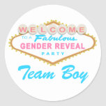 Las Vegas Sign Gender Reveal Team Boy Stickers