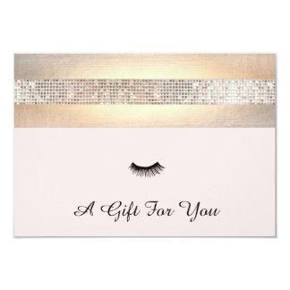 "Lash Extensions Salon Gift Certificate 3.5"" X 5"" Invitation Card"