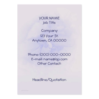 Lavender Blue Hibiscus Large Business Card