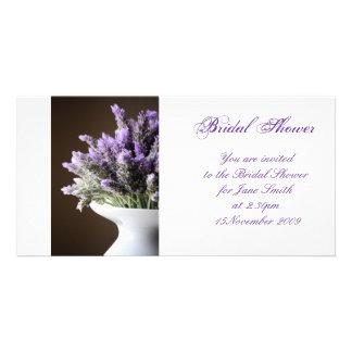 Lavender - Bridal Shower/Wedding Invitation Photo Card Template