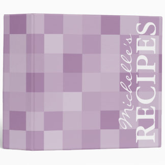 Lavender purple mosaic pattern recipe binder book
