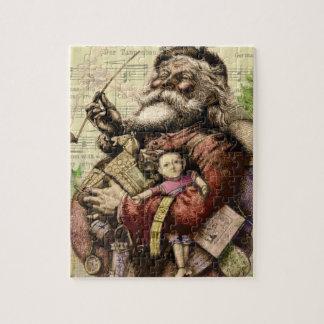 Le joyeux père noël et l'arbre de Noël Puzzles