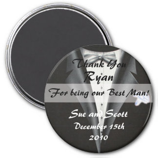 Le meilleur modèle d'aimant de Merci d'homme - Magnet Rond 7,50 Cm