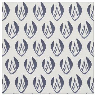 Le plus petit motif de tulipe bleu-clair vintage tissu
