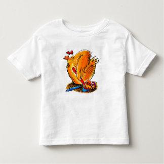 le poulet de caricature de Pâques peint son propre Tshirt