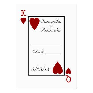 Le roi/Reine de carte de jeu ajournent des cartes Carte De Visite Grand Format
