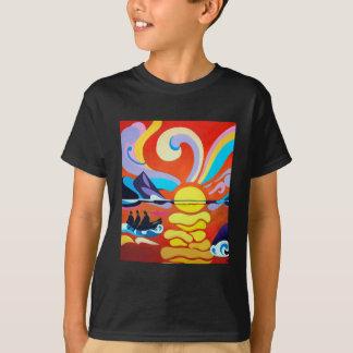 Le T-shirt des enfants de chaîne d'île de Skellig