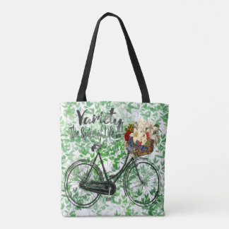 Leaf tote bag Variety the spice of life bike