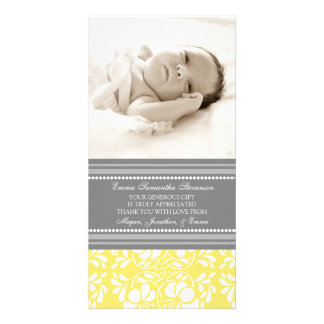 Lemon Gray Thank You Baby Shower Photo Cards