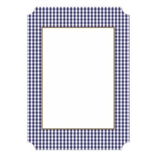 Les Etats-Unis marquent le guingan bleu et blanc Carton D'invitation 12,7 Cm X 17,78 Cm
