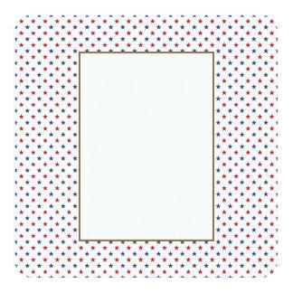 Les Etats-Unis marquent le rouge et marquent les Carton D'invitation 13,33 Cm