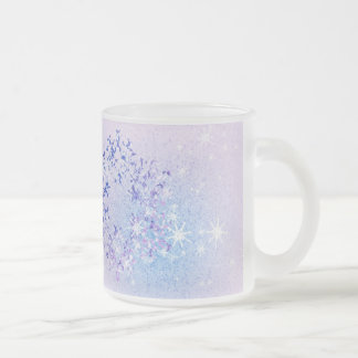 Let it Snow 10 Oz Frosted Glass Coffee Mug