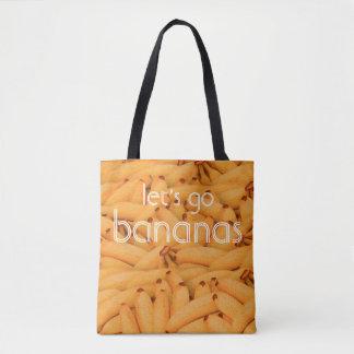 let's go bananas tote bag