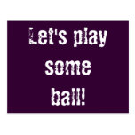 Let's play some ball! postcard