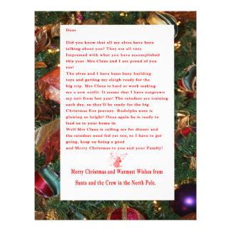 Letter from Santa Letterhead Design