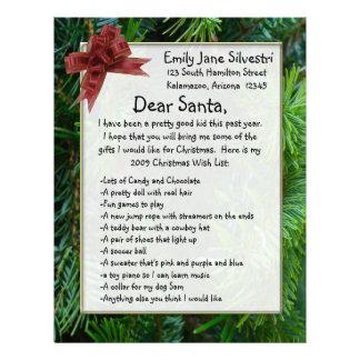 Letter to Santa, Create it Online! Customized Letterhead