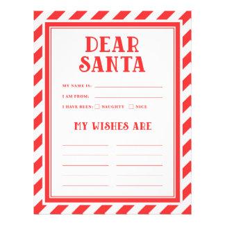 Letters to Santa Letterhead Template