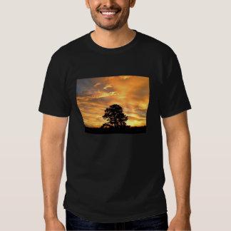 Lever de soleil d'or de ferme t-shirt