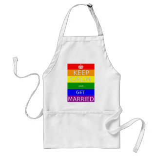 LGBT -Gay Marriage Keep calm and  Get Marriad Standard Apron
