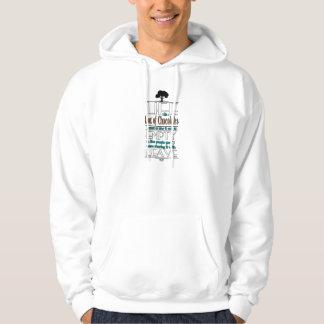 Life is Like a Box of Chocolates Quote Print Hooded Sweatshirts