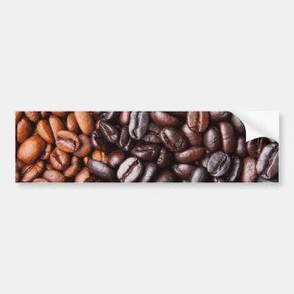 Light & Dark Roast Coffee Beans - Customized Blank Bumper Sticker