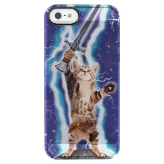 Lightning Cat Clear iPhone SE/5/5s Case
